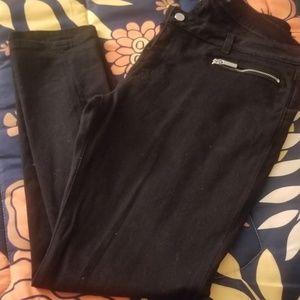 Michael Kors Izzy Skinny black cotton pants